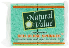 Sponges, Cellulose, 24 of 4 CT, Natural Value