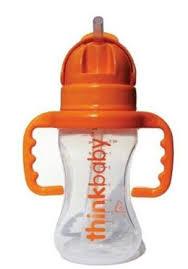 Bottle W/Straw, 9 OZ, Thinkbaby