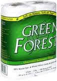 Bath Tissue, 2 Ply, White, 24 of 4 PK, Green Forest