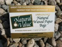 Waxed Paper Bags, 12 of 60 CT, Natural Value