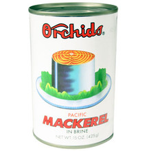 Orchids Mackerel in Brine 15 oz  From Orchids