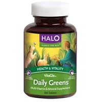 Daily Greens, 100 TAB, Halo