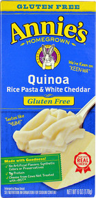 Quinoa Rice Pasta & White Cheddar 12 of 6 OZ By ANNIE`S HOMEGROWN