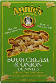All-Natural Baked Snack Crackers Sour Cream & Onion Bunnies 12 Pack 7.5 oz (213 g) From Annie's Homegrown
