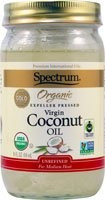 Coconut Oil Virgin Fair Trade 12 of 14 OZ From SPECTRUM NATURALS