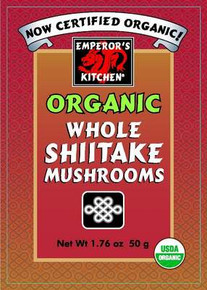 Shiitake Mushrooms Whole 6 of 1.76 OZ EMPERORS KITCHEN