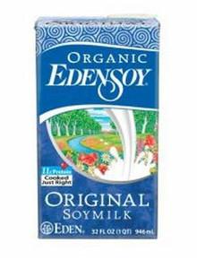 Organic EdenSoy Original Soymilk 12 Pack 32 fl oz (946 ml) From Eden Foods