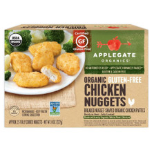Organic GF Chicken Nuggets 12 of 8 OZ By APPLEGATE FARMS