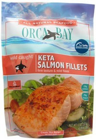 Keta Salmon Fillets 12 of 10 OZ ORCA BAY