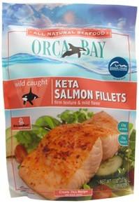 Keta Salmon Fillets 12 of 10 OZ ORCA BAY