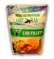 Alaskan Cod Fillets 12 of 10 OZ Orca Bay