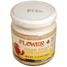 Flower Crab Meat 6.5 oz  From Orchids