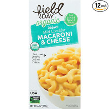 Mild Cheddar Mac & Cheese 12 of 6 OZ By FIELD DAY