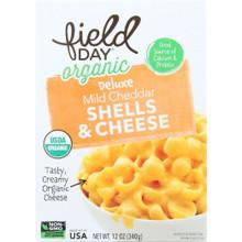 Mild Cheddar Shells Mac & Cheese 12 of 12 OZ By FIELD DAY