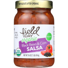 Black Bean & Corn 12 of 16 OZ By FIELD DAY