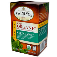 100% Organic Herbal Tea Peppermint 6 Pack 20 Tea Bags 1.41 oz (40 g) From Twinings