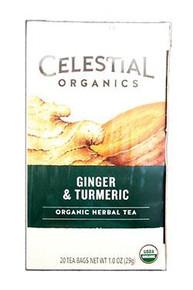 Ginger & Turmeric 6 of 20 BAG By CELESTIAL SEASONINGS