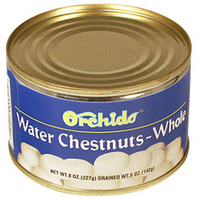 Orchids Water Chestnuts Whole 8 oz  From Orchids