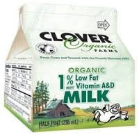 1% Low Fat 6 of 64 OZ CLOVER ORGANIC FARMS