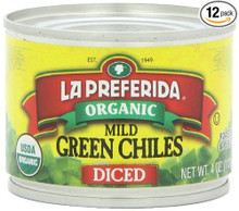 Diced Green Chiles Mild 12 of 4 OZ From LA PREFERIDA
