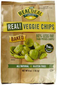 Real Veggie Chips Original 12 of 6 OZ REAL DEAL ALL NATURAL SNACKS