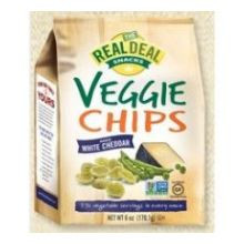 Real Veggie Chip White Cheddar 12 of 6 OZ By REAL DEAL ALL NATURAL SNACKS