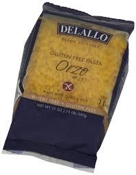Orzo #65 Wheat/Gluten Free 12 of 12 OZ De Lallo