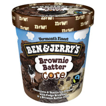 Brownie Batter Core 8 of PINT By BEN & JERRY`S