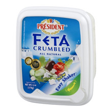 Feta Crumbled Plain 8 of 6 OZ From PRESIDENT