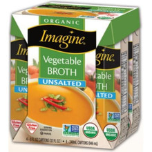 Vegetable Broth Unsalted 6 of 4 of 8 OZ By IMAGINE FOODS
