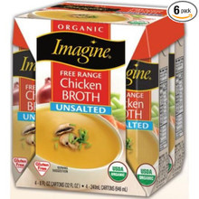 Fr Range Chicken Broth Unsalted 6 of 4 of 8 OZ By IMAGINE FOODS