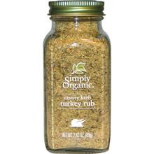 Savory Herb Turkey Rub 6 of 2.43 OZ By SIMPLY ORGANIC