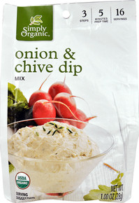 Onion & Chive Dip Mix 12 of 1 OZ By SIMPLY ORGANIC