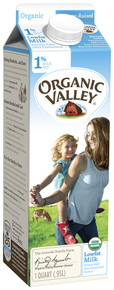 Ultra Pasteurized Low Fat 1% Milk 12 of 32 OZ From ORGANIC VALLEY