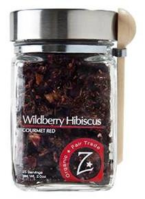 Wildberry Hibiscus Glass Jar 4 of 2 OZ By ZHENA`S GYPSY TEA