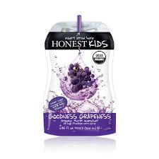 Goodness Grapeness Juice 4 of 8 of 6.75 OZ Honest Kids
