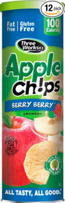 Apple Chips Berry Berry 12 of 1.76 OZ By THREE WORKS