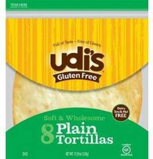 Plain 6 inch 8 count 12 of 6.77 OZ UDI`S GLUTEN FREE