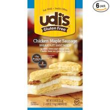 Chicken Maple Sausage 6 of 8.18 OZ By UDI`S GLUTEN FREE