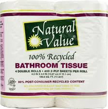 Bathroom Tissue 400 Cnt Rolls 12 of 4 PK Natural Value