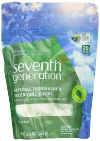 Dishwasher Packs Free & Clear 8 of 45 CT By SEVENTH GENERATION