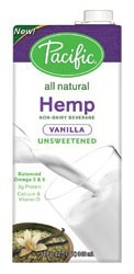 Vanilla, Unsweetened, 12 of 32 OZ, Pacific Natural Foods
