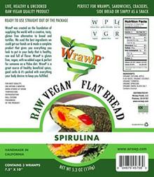 Flatbread Spirulina 8 of 5.3 OZ By WRAWP