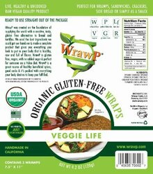 Flatbread Veggie Life 8 of 4.2 OZ By WRAWP