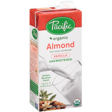 Almond, Vanilla, Unsweetened, 12 of 32 OZ, Pacific Natural Foods