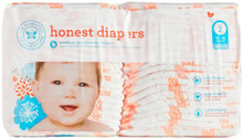 Diapers Giraffes Size 2 S/M 40 CT By THE HONEST CO