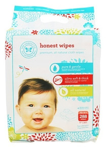 All Natural Cloth Wipes 288 CT By THE HONEST CO