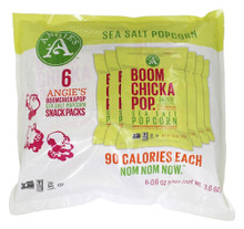 Boomchickapop Sea Salt  Mlti Pk 8 of 6 of .6 OZ By ANGIE`S