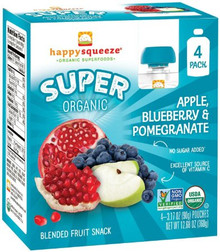 Apple Blueberry & Pomegranate 4 of 4 of 3.17 OZ By HAPPY SQUEEZE