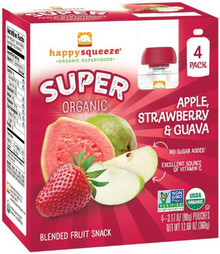 Apple Strawberry & Guava 4 of 4 of 3.17 OZ By HAPPY SQUEEZE